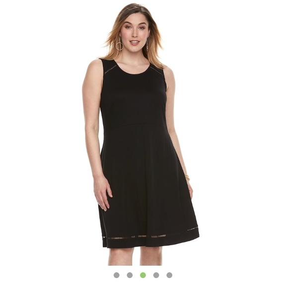 Apt 9 Dresses Kohls Plus Size Black Skater Dress 4x Poshmark